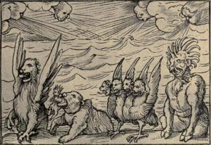 Daniel's vision of the four beasts (Daniel 7).